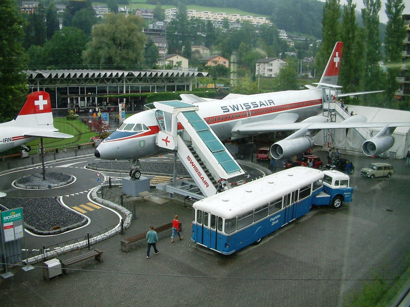 Swissair Corinaldo CV-990 in the Swiss Transport Museum.<br /> Entered service in 1962 from the Convair factory in California - fastest subsonic aircraft then operating. Withdrawn after 12 years service