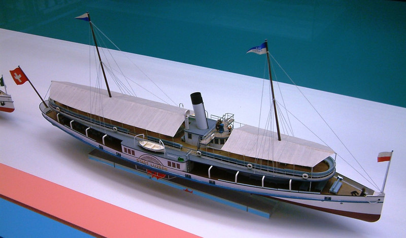 Model of Lake Lucerne paddle steamer Stadt Luzern (II) (1887 - 1917)