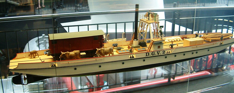 Model of Lake Lucerne train ferry D.G.V.2