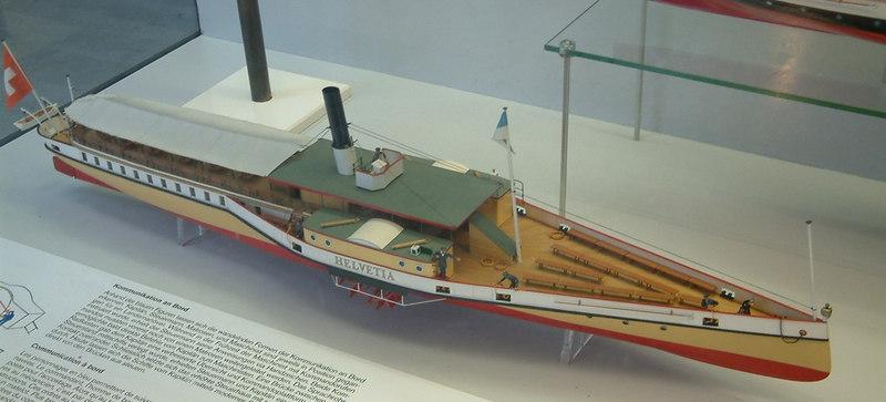 Model of paddle steamer Helvetia