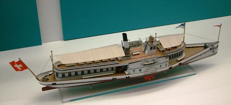 Model of the Lake Lucerne paddle steamer Gotthard (II) (1889 - 1965)