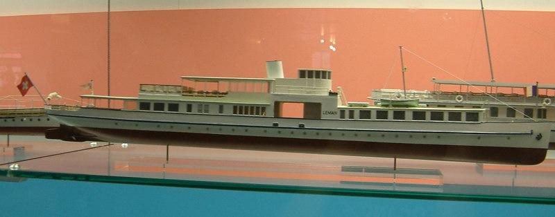 Model of the Lake Leman motor vessel Leman (IV) (1942 - 1989)