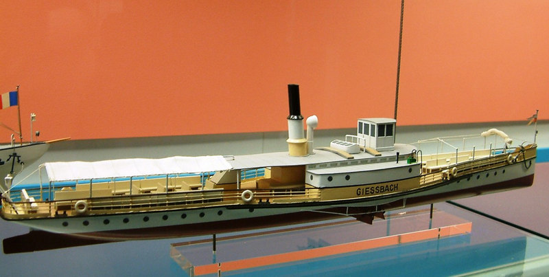 Model of the Lake Brienz paddle steamer Giessbach (III) (1859)