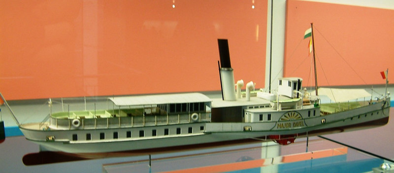 "Model of Lake Leman paddle steamer Major Davel (1889 - 1968)<br /> <br /> See pictorial history at <br />  <a href=""http://www.simplonpc.co.uk/CGN2.html#anchor127937"">http://www.simplonpc.co.uk/CGN2.html#anchor127937</a>"