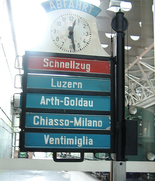 Famous names from the Gotthard route