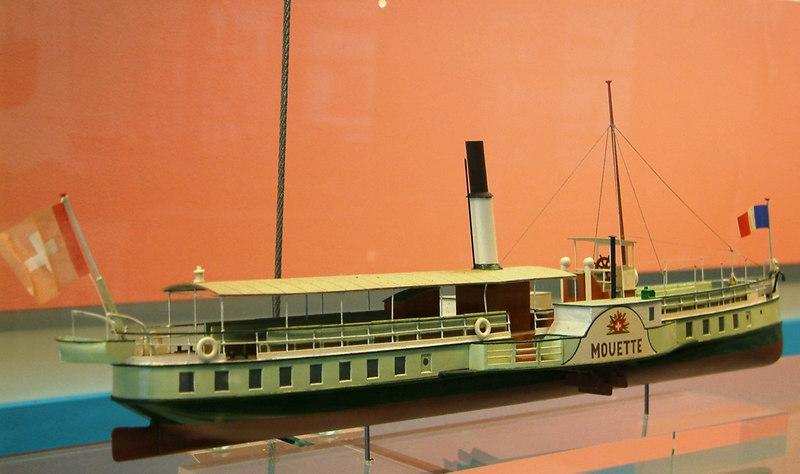 Model of Lake Leman paddle steamer Mouette (1875-1907)