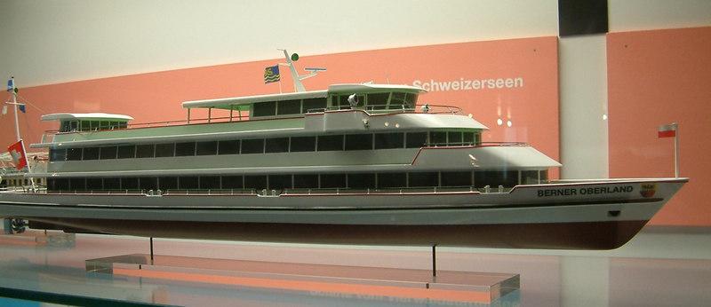 Model of the new Lake Thun motor vessel Berner Oberland