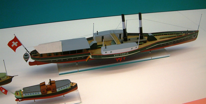 Model of paddle steamer Victoria