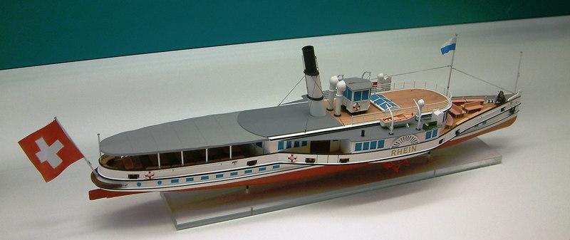 Model of the Lake Lucerne paddle steamer Rhein (1911 - 1939)