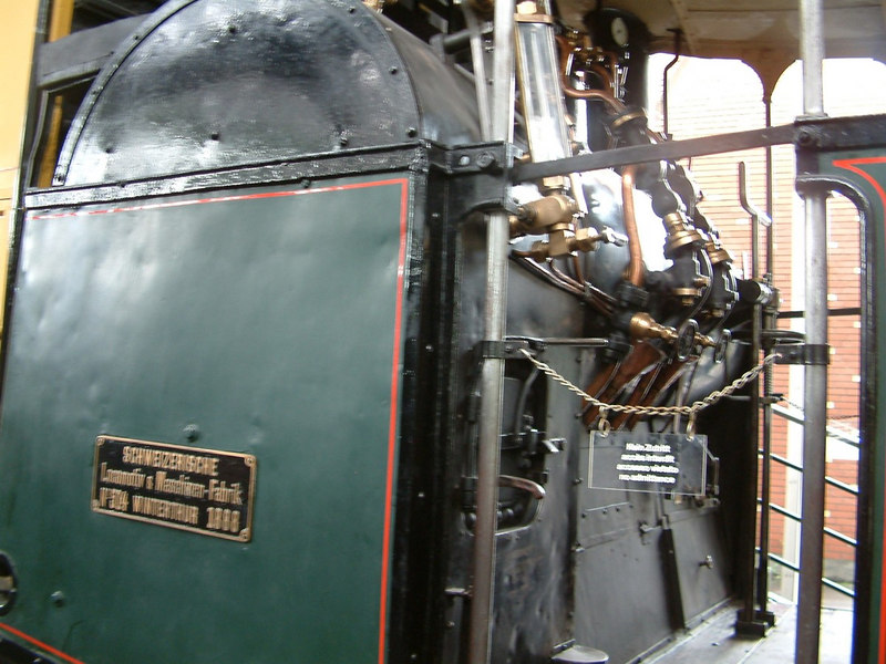 Pilatus railway steam locomotive No 9 - fitted with transversely mounted horizontal boiler due to the extreme slope of the railway.