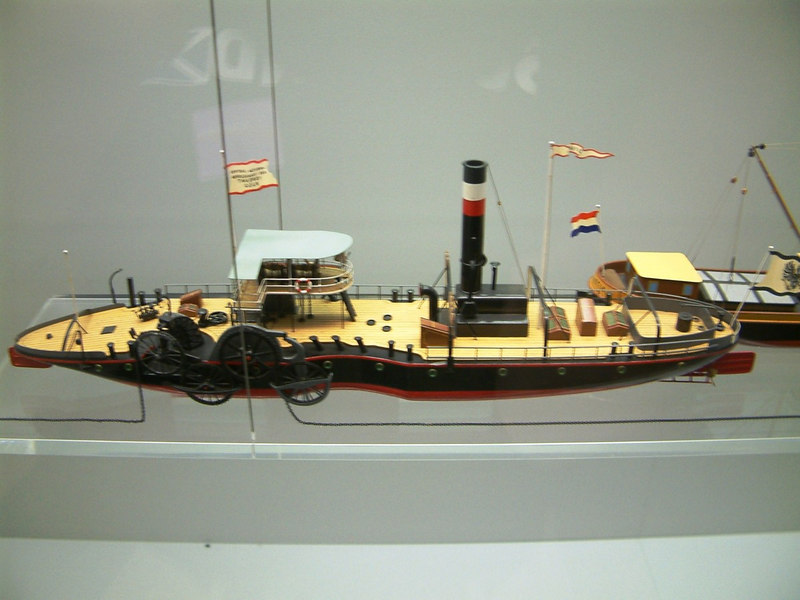 Model of a Rhine chain ferry