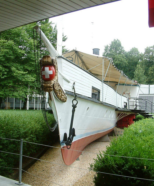 The former Lake Lucerne paddle steamer Rigi, now preserved in the Swiss Transport Museum