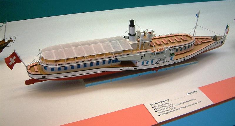 Model of Lake Lucerne paddle steamer Italia (1872 - 1963)
