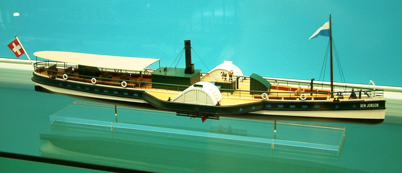 Model of the Lake Lucerne paddle steamer Ben Jonson