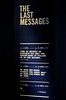 Representation of the last messages, Titanic Belfast, Tues 15 May 2012
