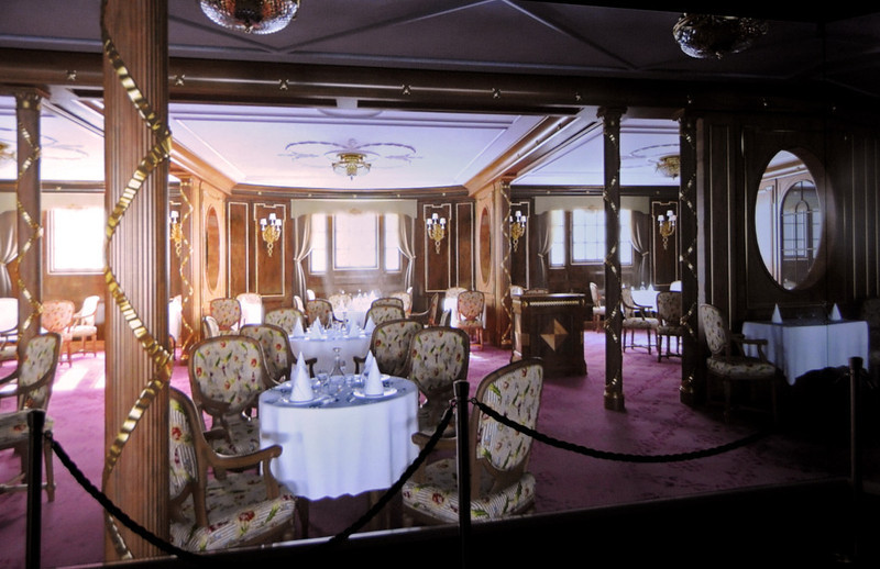 Representation of first class dining room, Titanic Belfast, Tues 15 May 2012