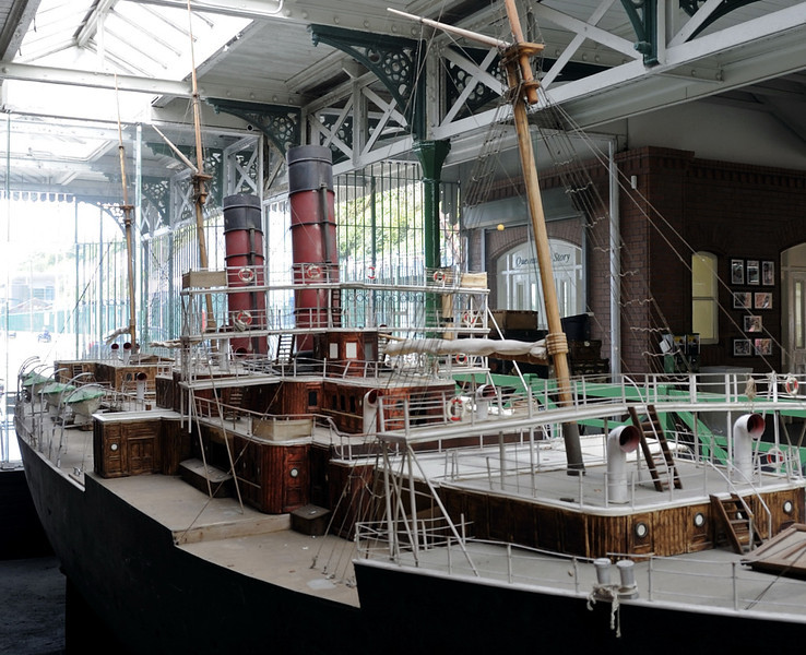 Model of 1881 Cunard liner Servia, Cobh heritage centre, Fri 11 May  2012 2