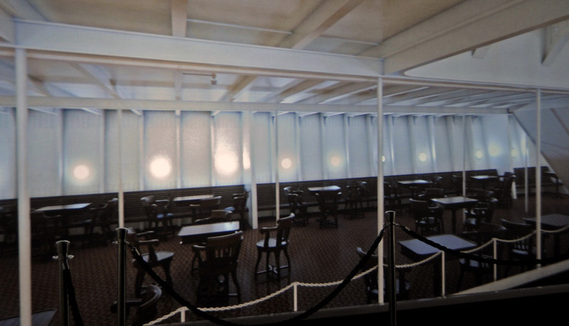 Representation of third class dining room, Titanic Belfast, Tues 15 May 2012