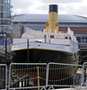Nomadic, Titanic Belfast, Tues 15 May 2012.  After sailing from Southampton, Titanic called at Cherbourg, where this White Star tender brought passengers and mail to her.  Nomadic was built in Belfast by Harland & Wolff in 1911, and is now being restored in the Hamilton graving dock.