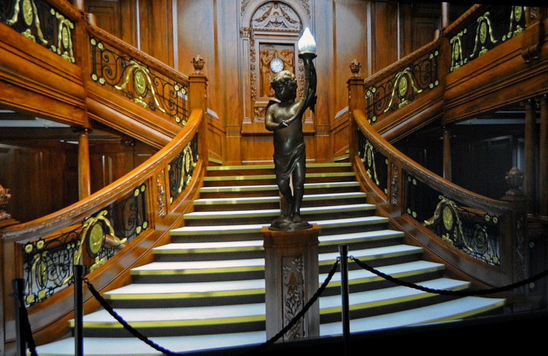 Representation of the grand staircase, Titanic Belfast, Tues 15 May 2012