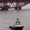 Carlo Magno<br /> 2nd June 2012<br /> Heading for Rosyth after towing a barge with a section of the new aircraft carrier.<br /> Photographed from the Forth Bridge