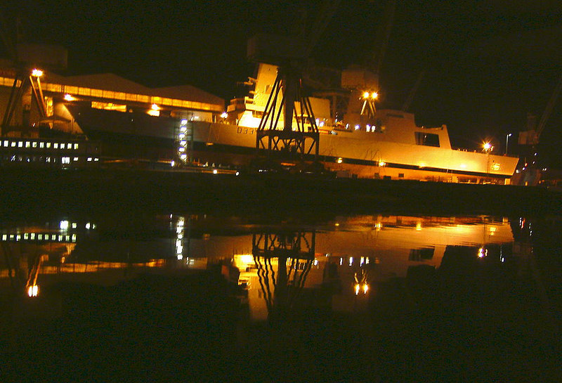 Dauntless on the eve of her launch at Govan, 22 January 2007