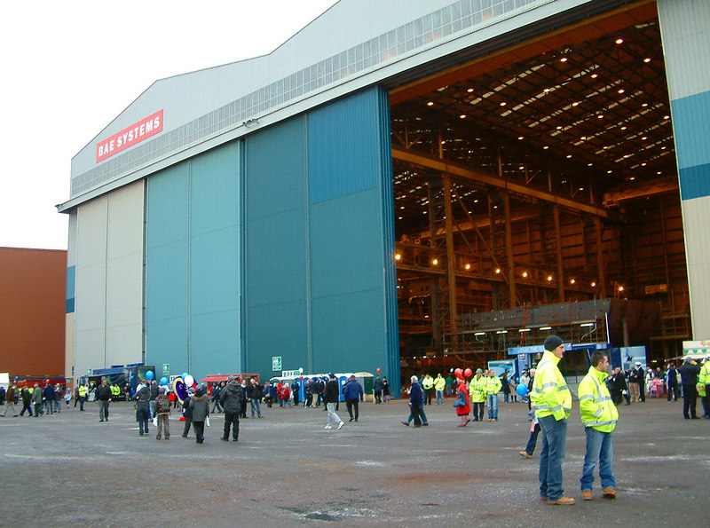 Some of the massive blocks that go to make up the Type 45 destroyers are being fabricated in the the massive module building halls originally built by Kvaerner Govan in the 1990s for the construction of LNG and chemical products tankers.