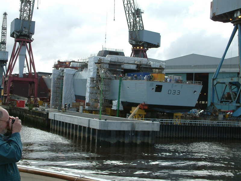 Dauntless - bow section now alighned with the main hull, 21st August 2006