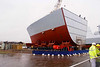 Bow section of the 4th Type 45 (Dragon) at Govan on the launch day of HMS Diamond, 27th November 2007
