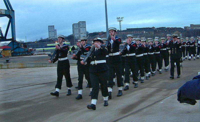 The guard of honour departs