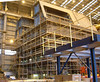 A further block section of Yard No 1063 (which will accommodate the helicoper hanger) under construction in Bay 1 of the Govan module hall on 23 January 2007.