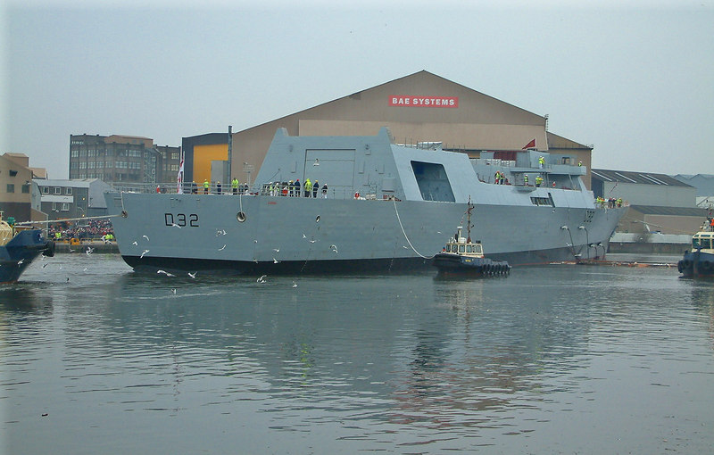 Launch of HMS Daring at BAE Systems' Scotstoun shipyard, 1st February 2006