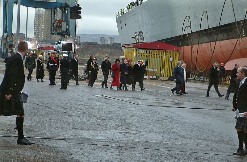 The guests and launch dignitaries arrive.