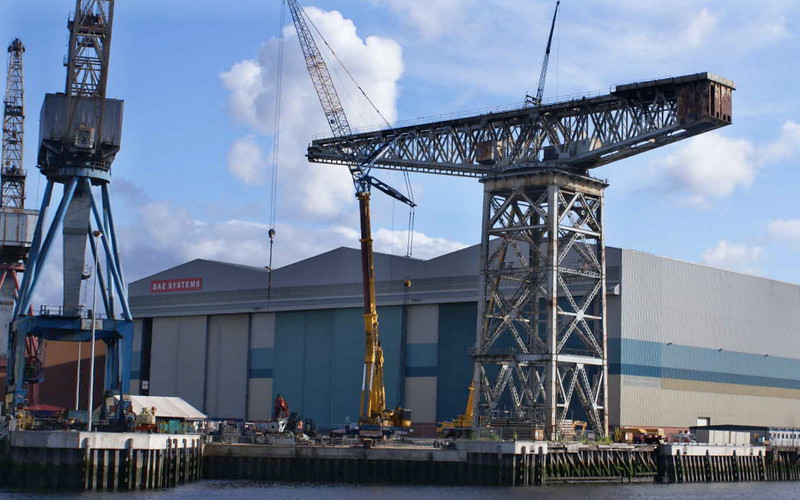 Demolition of the 96 year old Titan Crane at the Govan shipyard  (once the largest crane in the world) commenced in late 2007.
