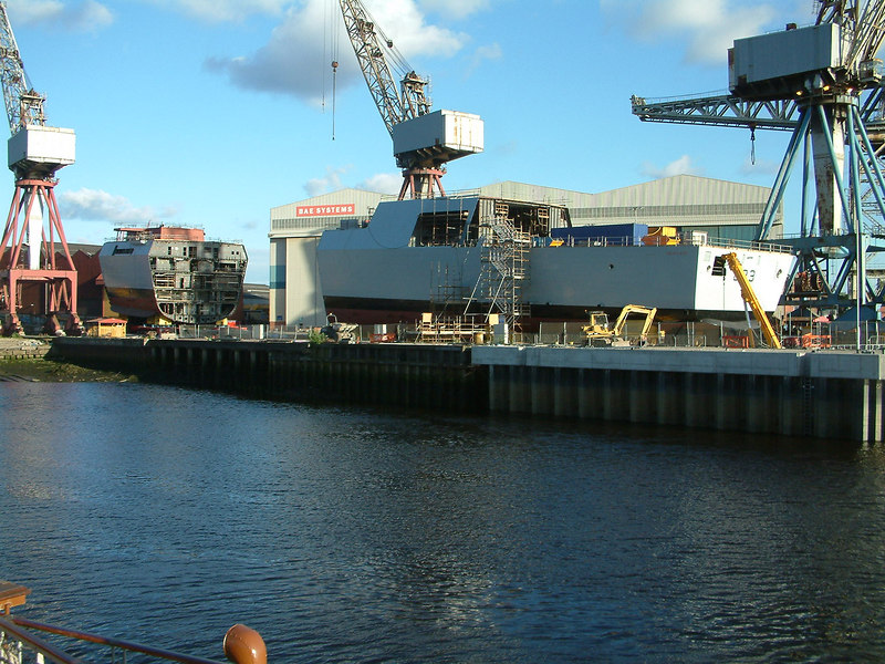 The first three blocks of Dauntless at Govan on 24th June 2006