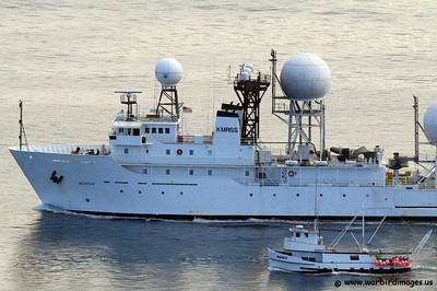 USNS Worthy (T-AGOS-14) was a Stalwart class Modified Tactical Auxiliary General Ocean Surveillance Ship of the United States Navy.   Stalwart class ships were originally designed to collect underwater acoustical data in support of Cold War anti-submarine warfare operations in the 1980s. USNS Worthy was stricken from the Navy registry in 1993 and modified to be Kwajalein Mobile Range Safety System (KMRSS) Worthy, a Missile Range Instrumentation Ship at Kwajalein Atoll's Ronald Reagan Ballistic Missile Defense Test Site, operated by the United States Army