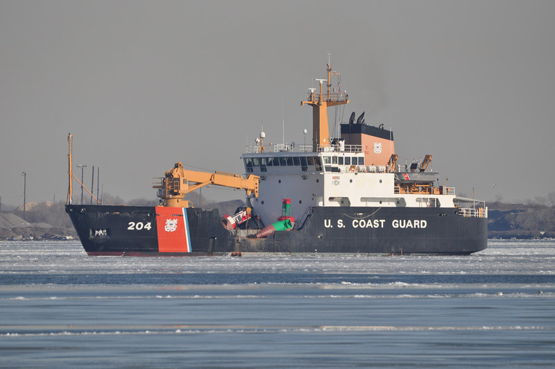 CGC Elm WLB204<br /> 225' Seagoing Buoy Tender<br /> Homeport: Atlantic Beach, NC<br /> <br /> Photo 1-31-2014, Baltimore, MD