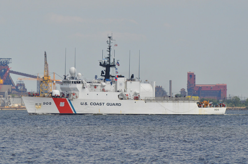 CGC Spencer WMEC 905<br /> 270' Medium Endurance Cutter<br /> Homeport: Boston, MA<br /> <br /> Photo 9-3-2013, Baltimore, MD
