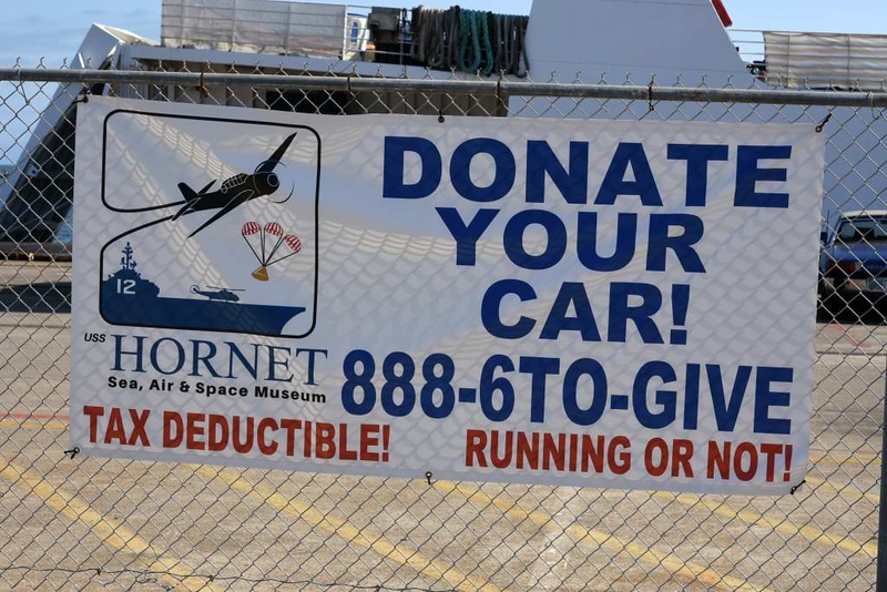 Fund raising for USS Hornet (CV-12), Alameda, California, 9 May 2019.  Preserved ships are money pits.