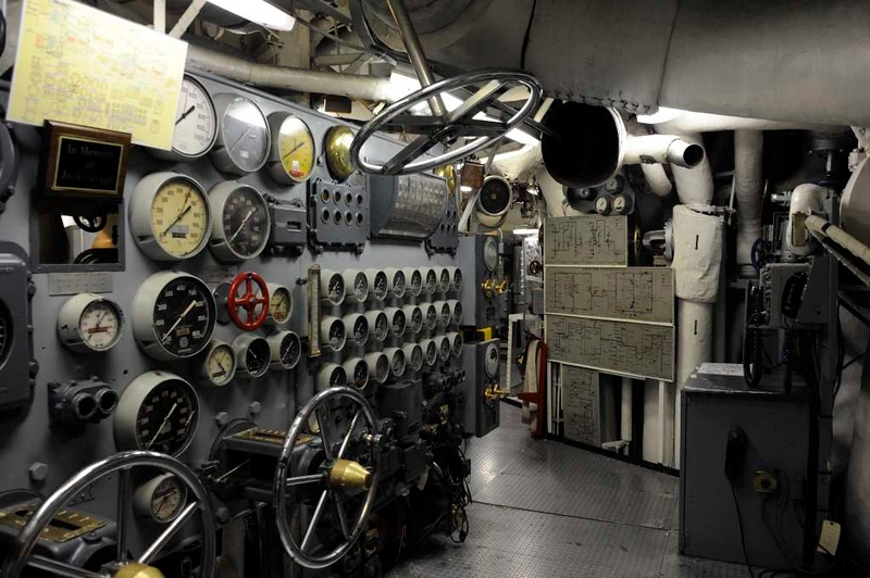 Engine room, USS Hornet (CV-12), Alameda, California, 7 May 2013.