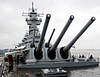 USS New Jersey (BB 62), Camden, New Jersey, Tues 5 October 2010 3    The two forward turrets with their 16 inch guns.