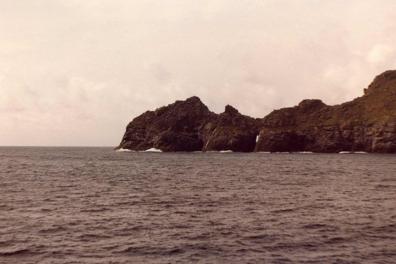 The view of the outer extremity of the island of Dun as Columba passed into Village Bay for the first time