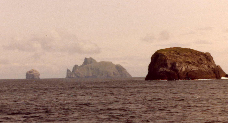 Stac Lee, Boreray and the much closer Stac Levenish on the right.