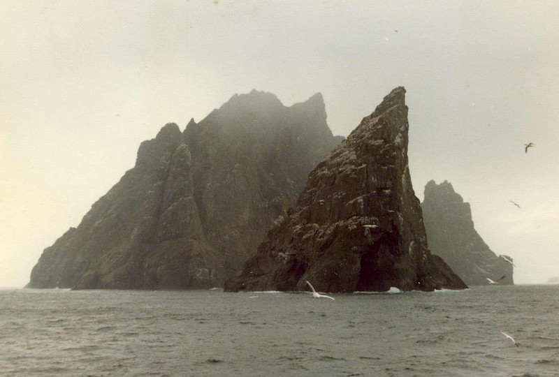 Stac An Armin and Boreray from Columba, 'threading the needle'.