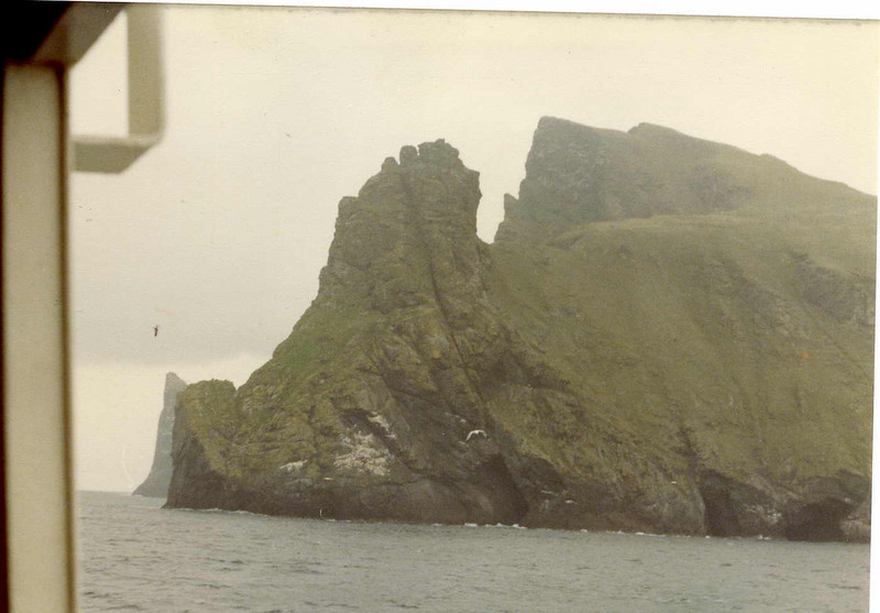 A view of the awesomely craggy island of Boreray from Columba