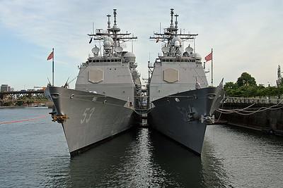 USS Bunker Hill (CG-52)  & USS Mobile Bay (CG-53)