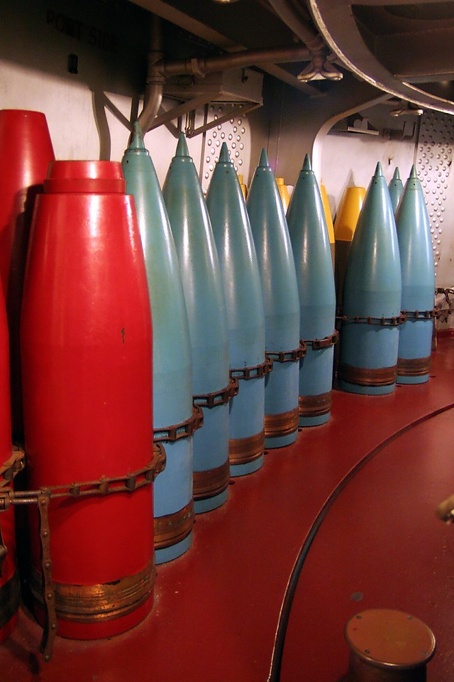 USS North Carolina (BB-55) Shells