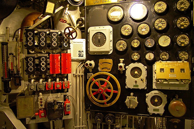 USS North Carolina (BB-55) Main control panel
