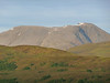 Ben Nevis - so clear it was possible to see the zigzag path on the face of the mountain. A few probably not-so-small snow patches remained.