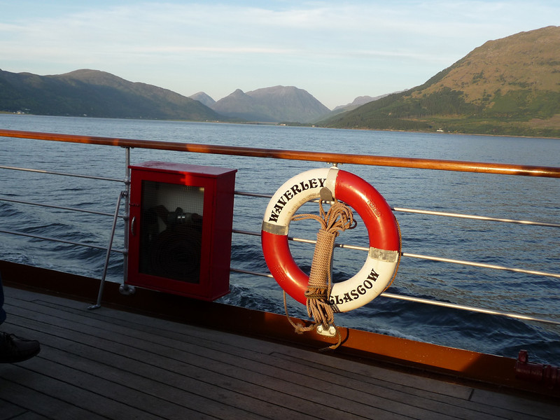 A 'keek' into Glencoe - well nearly!  PS Waverley of Glasgow is back!